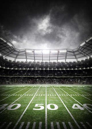 Amerikanischer Fußball-Stadion Standard-Bild - 58068486