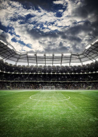サッカー スタジアムの背景 写真素材