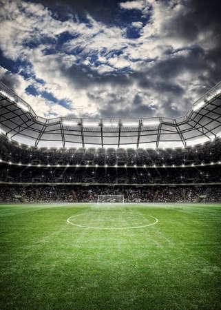 Soccer Stadium Background Banque d'images