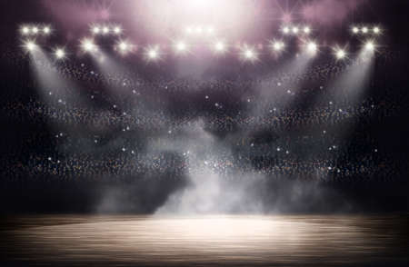 team sports: Basketball arena background