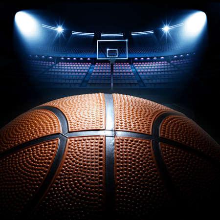 basketball team: basketball arena
