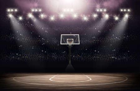 terrain de basket: Arena de basket-ball