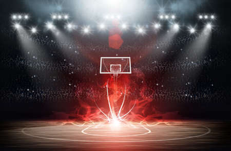 spotlight: basketball arena