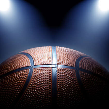 Photo of basketball with spotlights