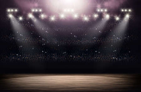 terrain de basket: Basket-ball arena fond Banque d'images