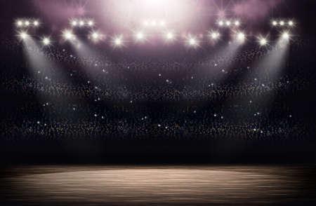 Basketball Arena Hintergrund Standard-Bild - 54429313