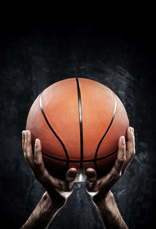 sports ball: Photo of basketball player with ball