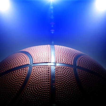 college basketball: Photo of basketball with spotlights
