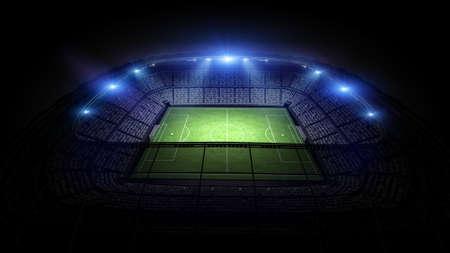 Stadium, the stadium is modeled and rendered imaginary. Stockfoto