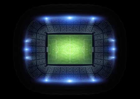 スタジアム、競技場でモデル化し、架空のレンダリングします。 写真素材 - 58288616