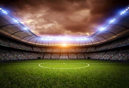 Stadion, das Stadion wird modelliert und imaginären gemacht.