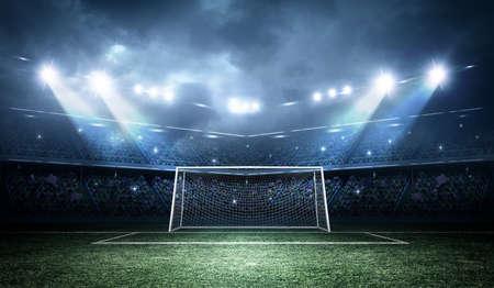 Stadium, the stadium is modeled and rendered imaginary. Foto de archivo