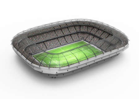 football stadium: Stadium, the stadium is modeled and rendered imaginary. Stock Photo