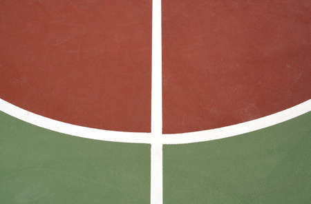 outdoor basketball court: Photo of outdoor basketball court floor Stock Photo