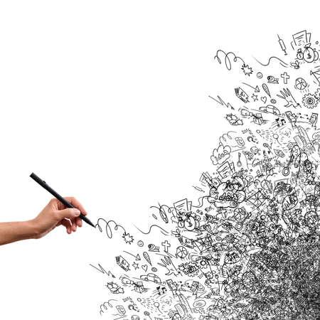 zeichnen: Zeichnung Hand, kreativ doodle