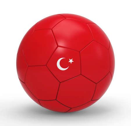 soccer balls: Soccer ball with Turkish flag symbols
