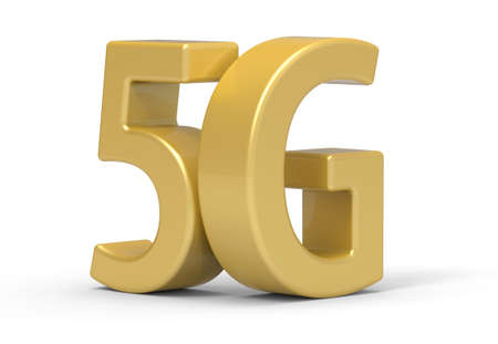 5g: 3d 5G wireless communication technology Stock Photo