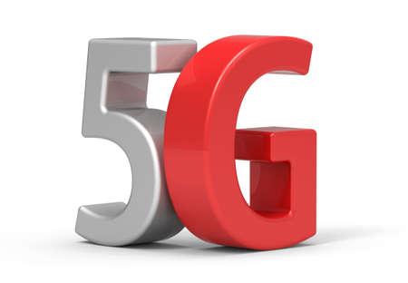 wireless communication: 3d 5G wireless communication technology Stock Photo