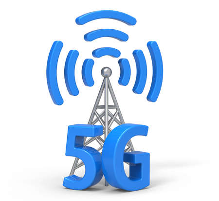 3d 5G with antenna, wireless communication technology Фото со стока - 63140815