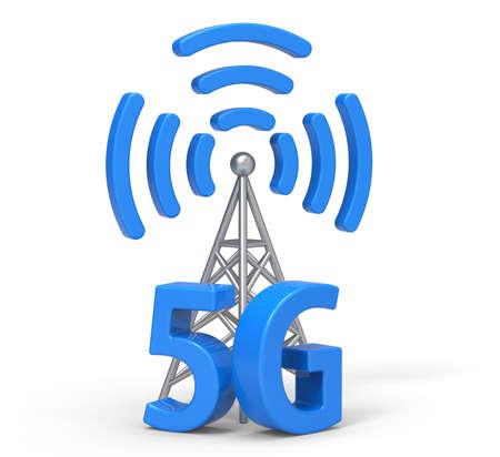 wireless communication: 3d 5G with antenna, wireless communication technology