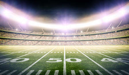 3d american football stadium, the stadium is modeled and rendered imaginary.