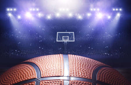 3d temple: 3d basketball arena Stock Photo