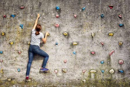 Klettern Frau