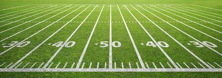 American Football-Feld und Gras Standard-Bild - 66830512