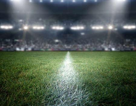 경기장 조명, 상상의 경기장 모델링 및 렌더링됩니다. 스톡 콘텐츠 - 66776042