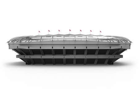 Das imaginäre Fußballstadion, 3D-Rendering Standard-Bild - 66830563
