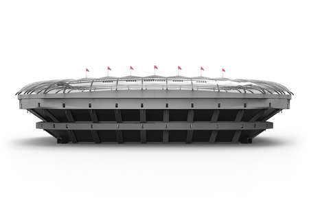 The Imaginary Soccer Stadium, 3d rendering Banque d'images