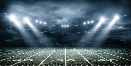The imaginary american soccer stadium, 3d rendering