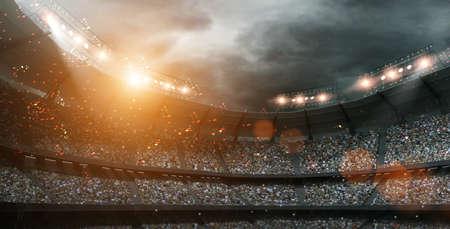 El estadio imaginaria, la representación 3d Foto de archivo - 66830575