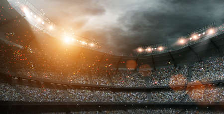 The imaginary stadium, 3d rendering Foto de archivo