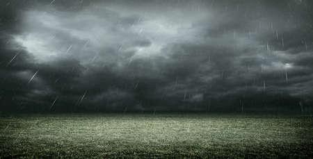 3d rendering das stadium mit dunklen wolken