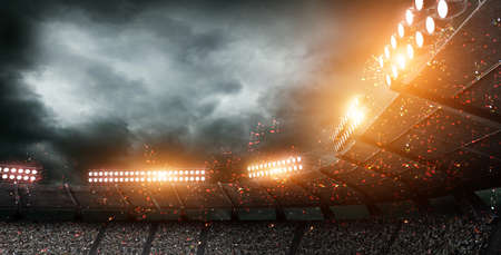 The imaginary stadium, 3d rendering 스톡 콘텐츠