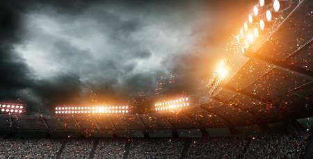 The imaginary stadium, 3d rendering Archivio Fotografico
