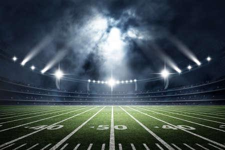 American Soccer Stadium, 3d rendering 스톡 콘텐츠
