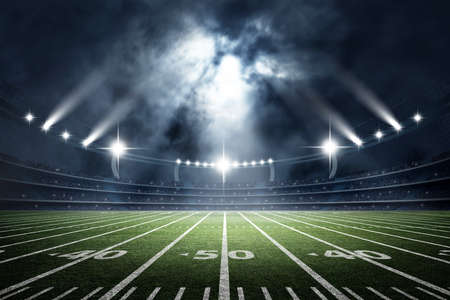 American Soccer Stadium, 3d rendering Banque d'images