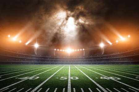 terrain de foot: American Soccer Stadium, 3d rendering Banque d'images