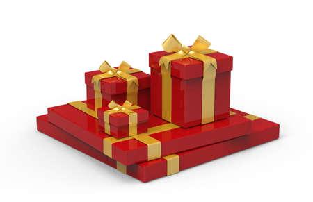 3d present boxes
