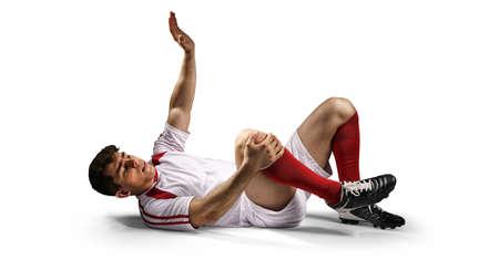 負傷したサッカー選手