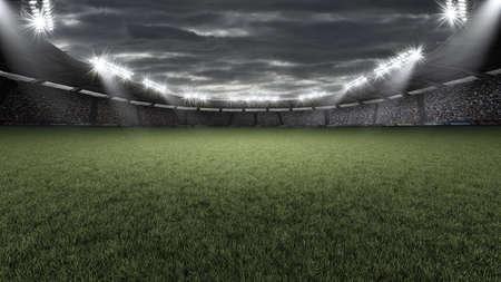 Stadium, the imaginary football stadium is modelled and rendered. 写真素材