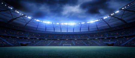 スタジアム、架空のサッカースタジアムをモデルにしてレンダリングされます。 写真素材 - 101719462