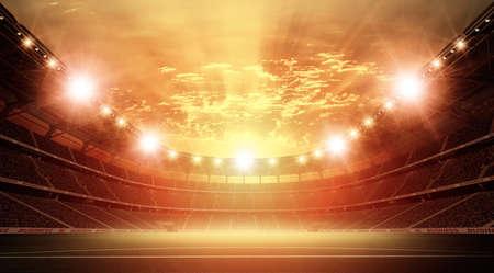 スタジアム、架空のサッカースタジアムをモデルにしてレンダリングされます。 写真素材 - 101720136
