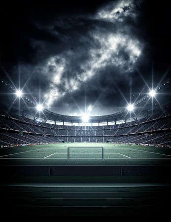 スタジアム、架空のサッカースタジアムをモデルにしてレンダリングされます。 写真素材 - 101102694