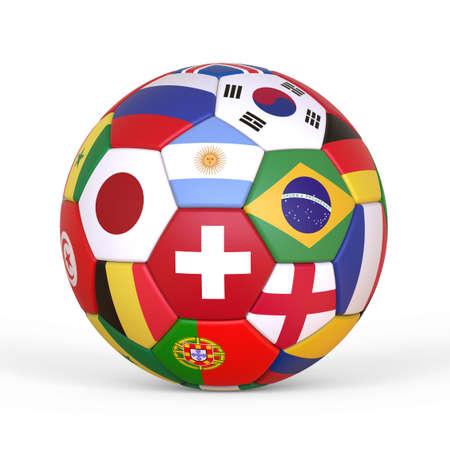 サッカーボール、架空のサッカーボールは、モデル化され、レンダリングされます。 写真素材 - 102062328