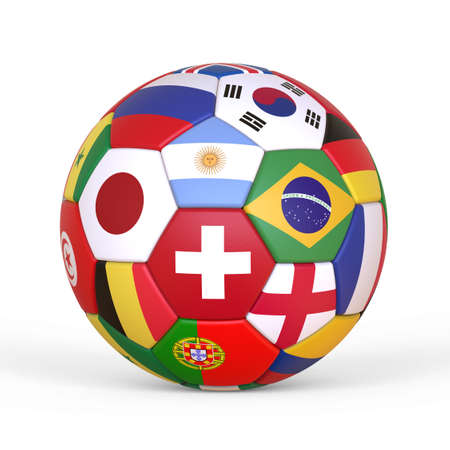 The soccer ball, the imaginary soccer ball, is modeled and rendered.