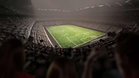 The stadium. The imaginary stadium is modelled and rendered.