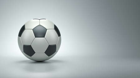 Football on the white background, 3d render 写真素材